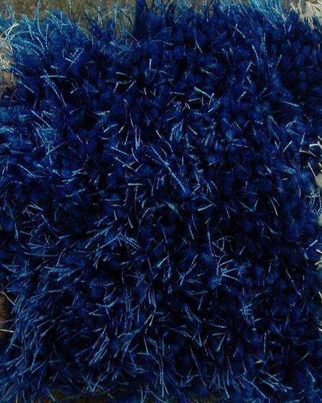 Afro Shaggy Solid Royal Blue