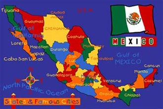 Paradise Kids Mexico Map