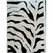 Shaggy Design Zebra Black