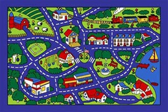 Paradise Kids Street Map Blue
