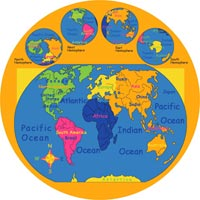 Paradise Kids World Map Round