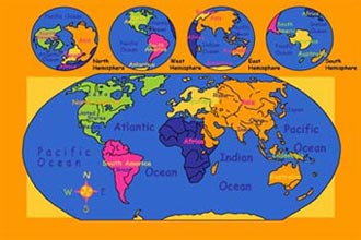Paradise Kids World Map